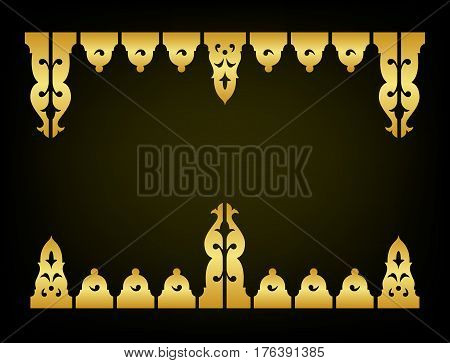 Oriental vintage ornament decorate vector and illustration