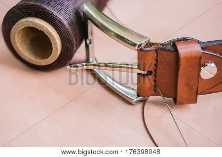 image of Thread and belt  for leather craft