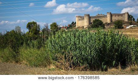 View of medieval castle Makeda, Castilla la Mancha, Spain