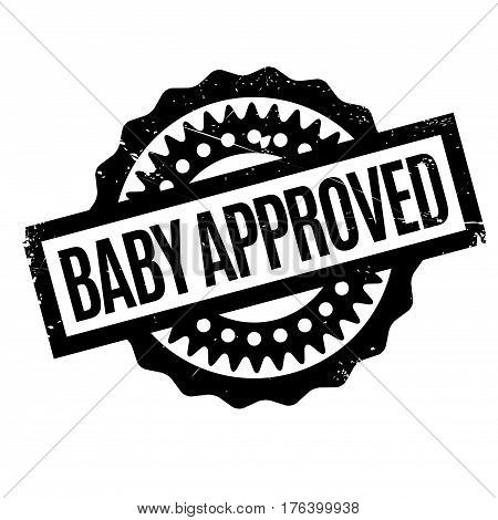 Baby Approved rubber stamp. Grunge design with dust scratches. Effects can be easily removed for a clean, crisp look. Color is easily changed.