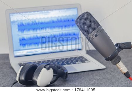 For home internet radio: home podcast recording studio