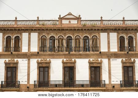 Ronda (Andalucia Spain): historic building in the square known as Plaza del Socorro