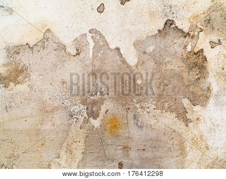 Dirty stains and cracks on the plaster - detail