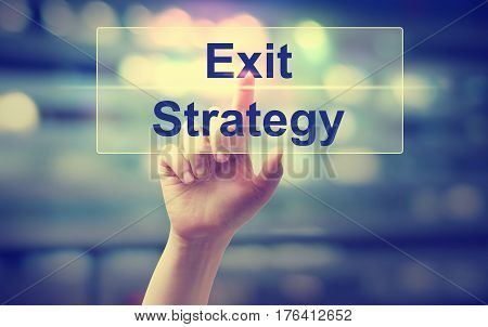Exit Strategy Concept With Hand