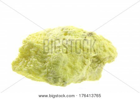 Sulfur in front of white background - size of the sample approx. 7 cm
