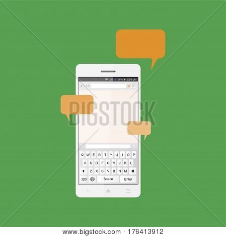Social Concept, A New Message And A Chat On The Internet. Notifications About A New Message In The S
