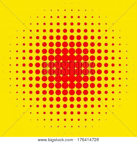 Popart, Halftone Pattern, Background. Yellow And Red, Duotone Backdrop