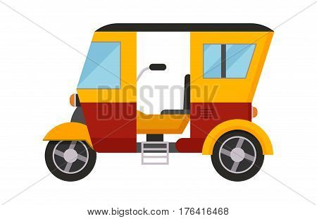 Taxi yellow bus car isolated on white background. Vector yellow taxi bus van and cab transport traffic urban. Road street service yellow taxi bus car isolated, Van truck taxi bus