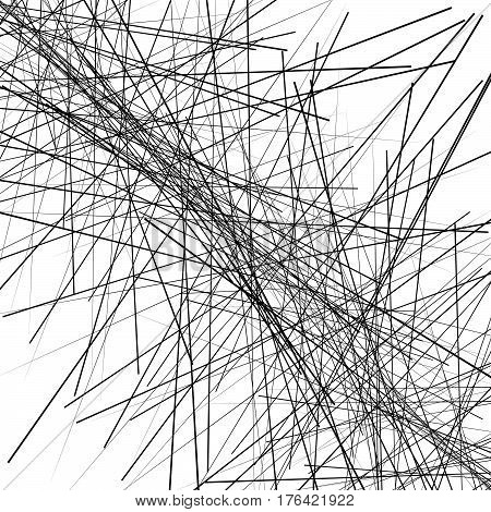Dynamic Chaotic Lines Abstract Black And White Texture / Pattern
