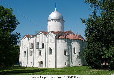 The Church of St. John the Baptist on Opoki built in 1127 - 1130's in Veliky Novgorod Russia
