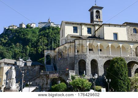 St. Gaudenzio Church And Sacred Mountain Sanctuary At Varallo, Italy
