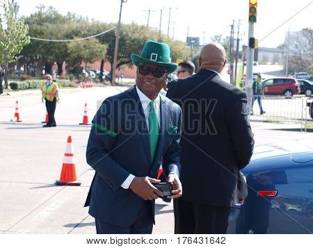 Dallas,USA,15March2017. Former Police Chief David Brown served as Grand Marshal at the Annual Greenville Avenue St.Patricks Parade. In Dallas Saturday,March 11th.