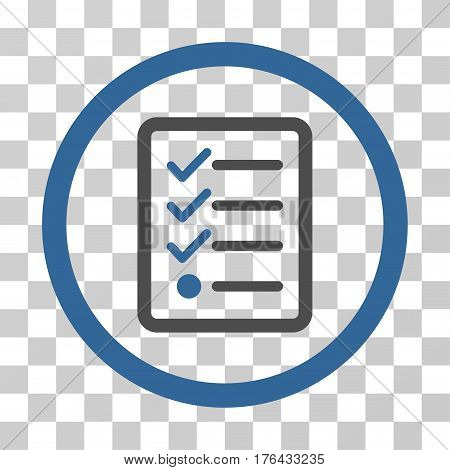 Checklist icon. Vector illustration style is flat iconic bicolor symbol cobalt and gray colors transparent background. Designed for web and software interfaces.