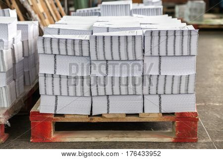 Gatherings in the printing house on pallets