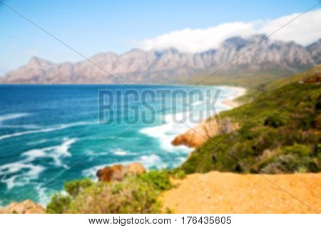 In South Africa Coastline Indian     Ocean