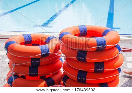 ring buoy lifesaving nearside the pool equipment rescue water poster