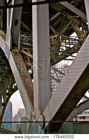 Burrard Bridge, Vancouver Canada, bridge tresses with rivets