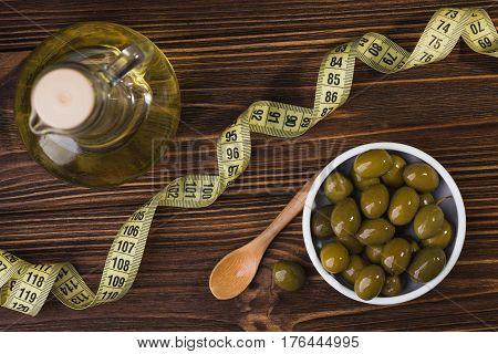 Olives In White Bowl