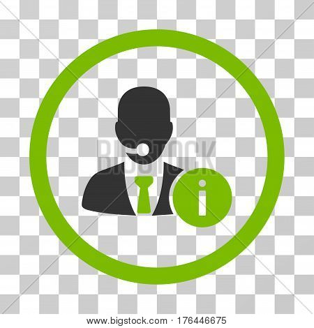 Help Desk Manager icon. Vector illustration style is flat iconic bicolor symbol eco green and gray colors transparent background. Designed for web and software interfaces.