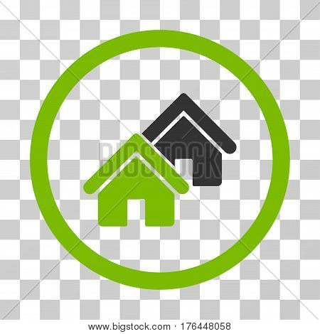 Realty icon. Vector illustration style is flat iconic bicolor symbol eco green and gray colors transparent background. Designed for web and software interfaces.