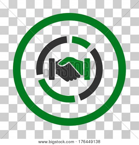 Acquisition Diagram icon. Vector illustration style is flat iconic bicolor symbol green and gray colors transparent background. Designed for web and software interfaces.
