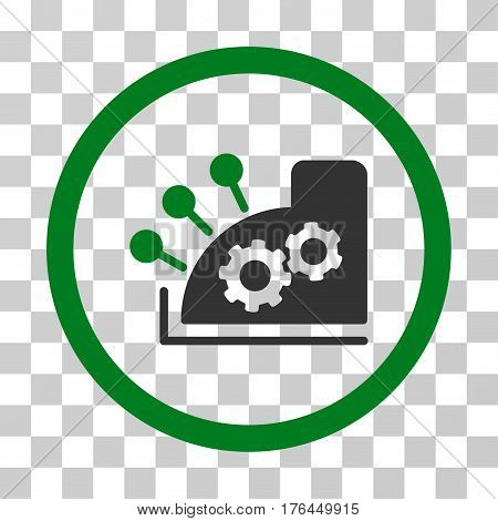 Cash Register icon. Vector illustration style is flat iconic bicolor symbol green and gray colors transparent background. Designed for web and software interfaces.