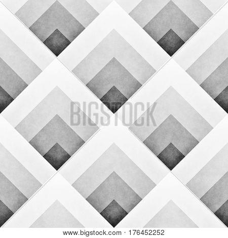 Seamles Gradient Rhombus Grid Pattern. Retro Monochrome Texture. Abstract Geometric Background Design