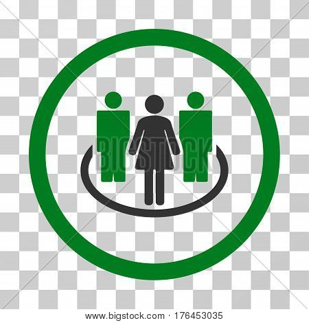 Society icon. Vector illustration style is flat iconic bicolor symbol green and gray colors transparent background. Designed for web and software interfaces.