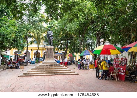 Activity In The Plaza In Mompox, Colombia