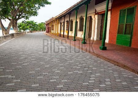 Historic Colonial Street In Mompox