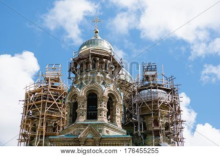 Cathedral began to build in 1901 and the Russian Tsar Nicholas II and his family in St. Petersburg nobles took part in a solemn cathedral cornerstone dedication ceremony. The first worship service and church consecration took place in 1903.