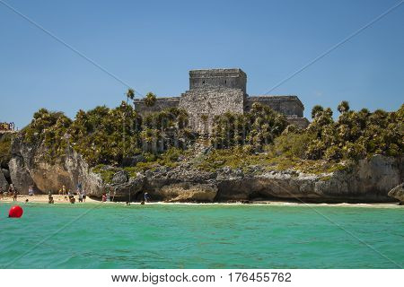 Mayan Ruins In Tulum, Mexico