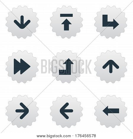 Vector Illustration Set Of Simple Cursor Icons. Elements Advanced, Left Direction, Transfer And Other Synonyms Left, Increasing And Right.