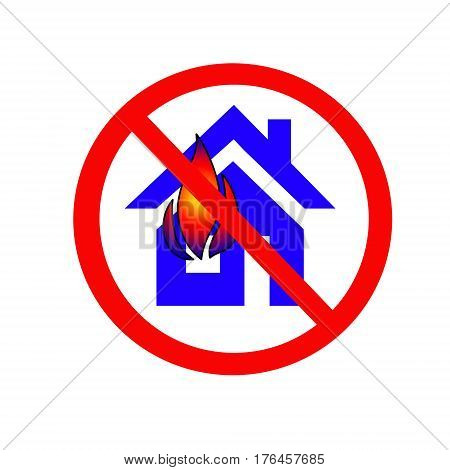 Sign fire safety on white background .