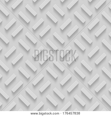 Seamless Repeatable Patterns With Beveled Shapes. Abstract Grayscale Monochrome Pavetment Background