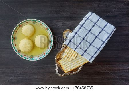 Jewish Holiday Symbol Soup Matzoh Ball