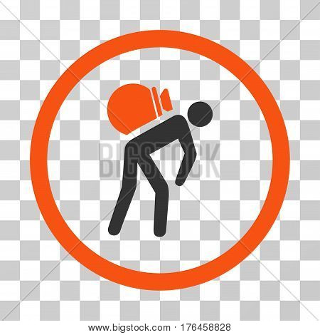 Porter icon. Vector illustration style is flat iconic bicolor symbol orange and gray colors transparent background. Designed for web and software interfaces.