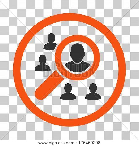 Search People icon. Vector illustration style is flat iconic bicolor symbol orange and gray colors transparent background. Designed for web and software interfaces.