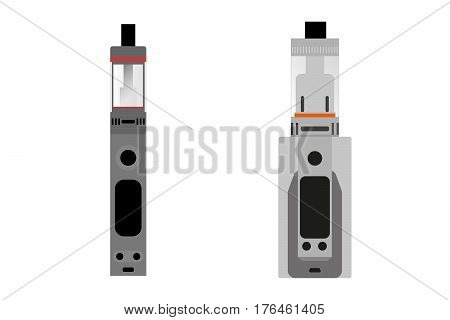 e cigarette vector draing, illustration on isolated white