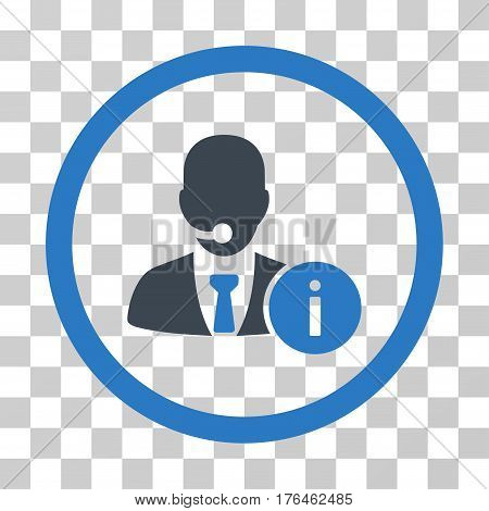 Help Desk Manager icon. Vector illustration style is flat iconic bicolor symbol smooth blue colors transparent background. Designed for web and software interfaces.