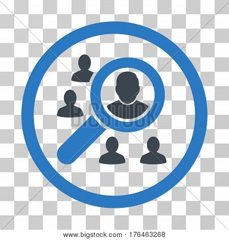 Search People icon. Vector illustration style is flat iconic bicolor symbol smooth blue colors transparent background. Designed for web and software interfaces.