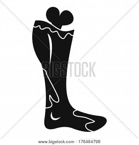 Zombie leg icon. Simple illustration of zombie leg vector icon for web