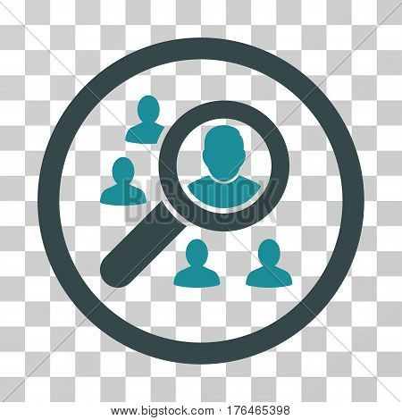 Search People icon. Vector illustration style is flat iconic bicolor symbol soft blue colors transparent background. Designed for web and software interfaces.