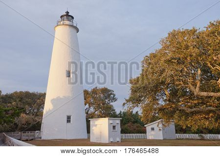 Ocracoke Island Lighthouse Outer Banks Obx Nc Us