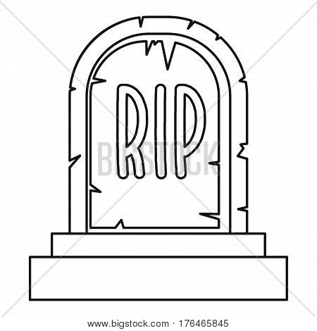 Tombstone icon. Outline illustration of tombstone vector icon for web