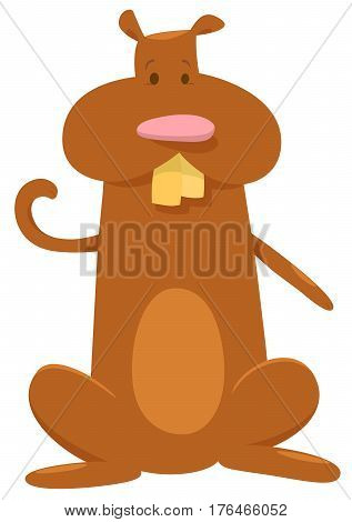 Hamster Cartoon Character