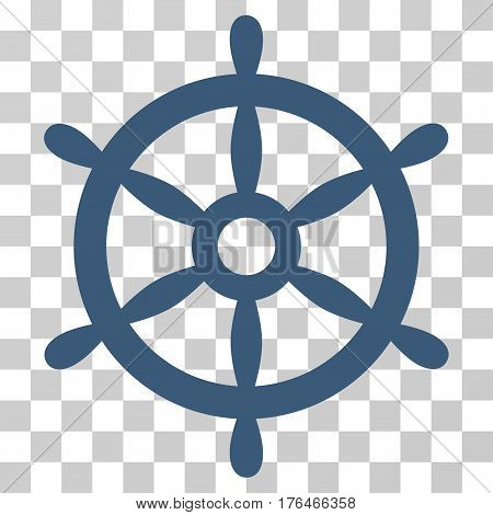 Boat Steering Wheel icon. Vector illustration style is flat iconic symbol blue color transparent background. Designed for web and software interfaces.