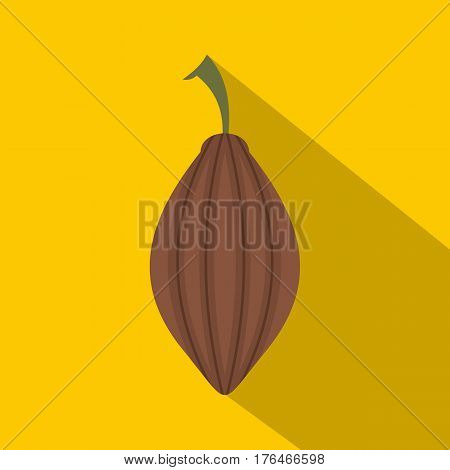Black cardamom icon. Flat illustration of black cardamom vector icon for web isolated on yellow background