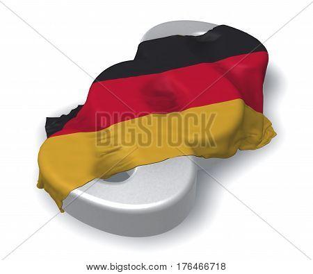 paragraph symbol in german colors - 3d rendering