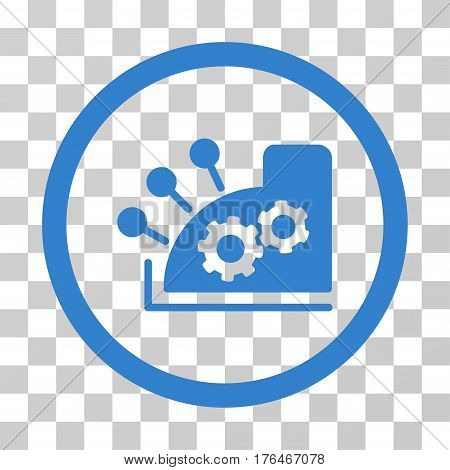Cash Register icon. Vector illustration style is flat iconic symbol cobalt color transparent background. Designed for web and software interfaces.